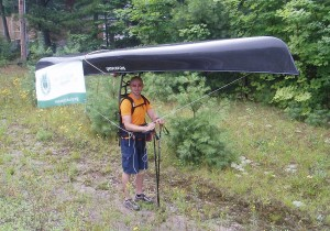 Portaging a canoe 42 kms to send needy kids to summer camp with Amici Camping Charity