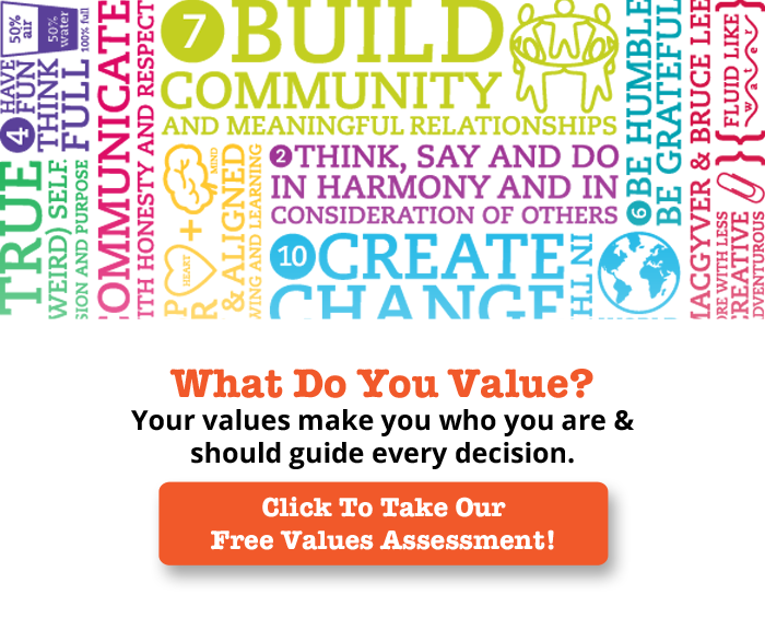 Click to take our free values assessment
